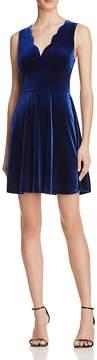 Aqua Velvet Scallop Dress - 100% Exclusive