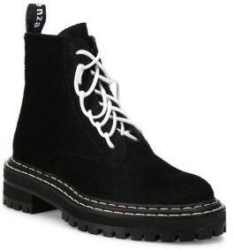 Proenza Schouler Calf Hair Combat Boots