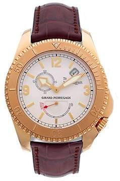Girard Perregaux Seahawk II 18kt Rose Gold Brown Leather Men's Watch
