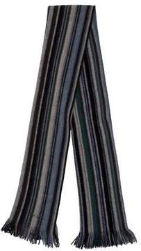 Paul Smith Striped Fringe Scarf