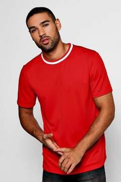 boohoo Sports Rib Mesh T-Shirt