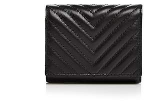 Rebecca Minkoff Love Quilted Leather Trifold Wallet - BLACK/SILVER - STYLE