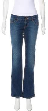 DKNY Low-Rise Straight-Leg Jeans