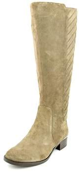 Calvin Klein Giada Round Toe Suede Knee High Boot.