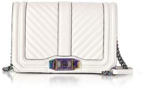 Rebecca Minkoff Bianco Chevron Quilted Leather Small Love Crossbody - WHITE - STYLE