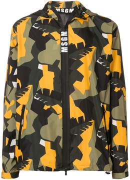 MSGM hooded camouflage sports jacket