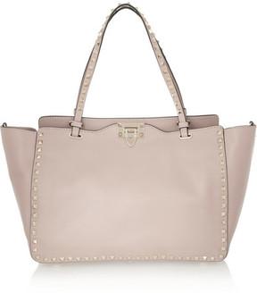 Valentino The Rockstud Medium Leather Trapeze Bag - Blush