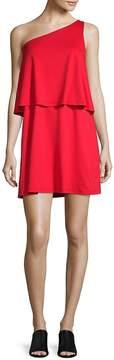 Susana Monaco Women's One-Shoulder Layered Dress