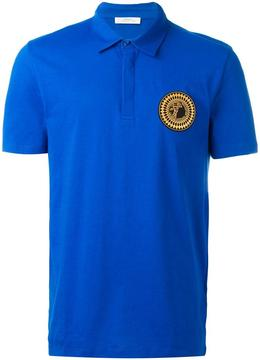 Versace Collection Medusa patch polo shirt