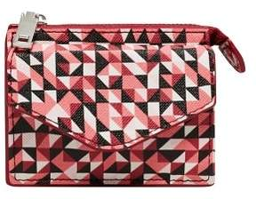 MANGO Geometric print wallet