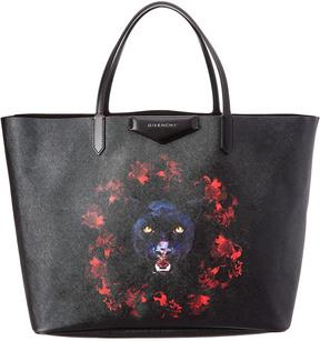 Givenchy Jaguar Printed Antigona Leather Shopper Tote