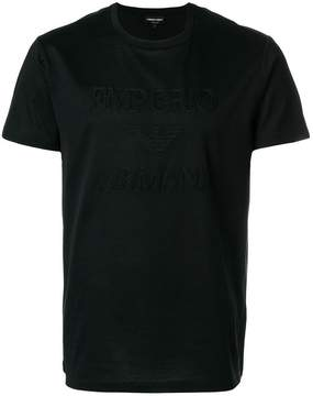 Emporio Armani logo embroidered T-shirt