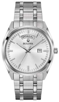 Bulova 96C127 Silver 39mm Stainless Steel Classic Mens Watch