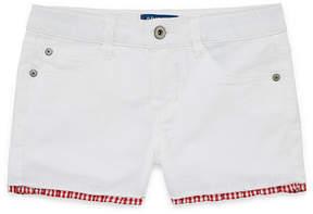 Arizona Ruffle Hem Denim Shorts Girls 4-16 and Plus