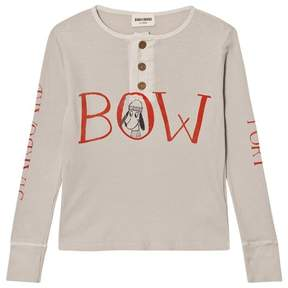 Bobo Choses Beige Bow and Stern Buttons T-Shirt