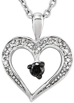 Black Diamond FINE JEWELRY 1/6 CT. T.W. White and Color-Enhanced Heart Pendant Necklace