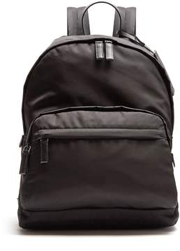 Prada Zip-pocket leather-trimmed backpack
