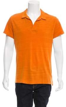 Orlebar Brown Woven Open Collar Polo Shirt