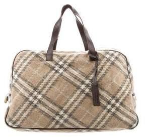 Burberry Tweed Check Shoulder Bag