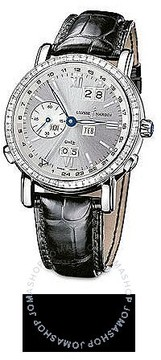 Ulysse Nardin GMT Perpetual Silver Dial Leather Strap Automatic Men's Watch