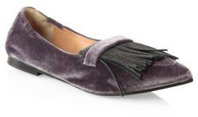 Brunello Cucinelli Velvet Monili Loafers