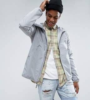 Herschel Voyage Packable Wind Runner Jacket in Light Gray Crosshatch UK EXCLUSIVE