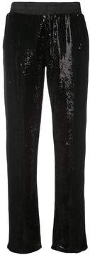 RtA sequin straight-leg trousers