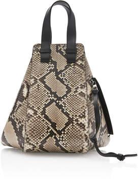Loewe Hammock Python And Leather Bag