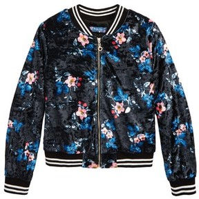 Truly Me Girl's Floral Print Bomber Jacket