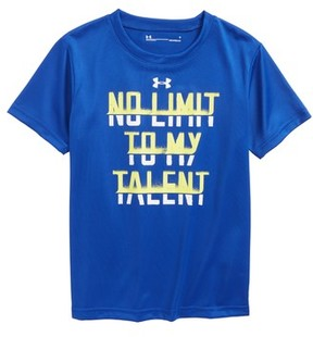 Under Armour Boy's No Limit To My Talent Heatgear Graphic T-Shirt