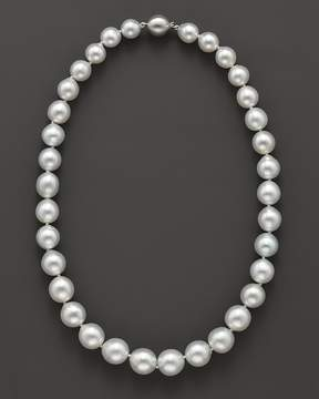 Bloomingdale's Cultured White South Sea Pearl Necklace in 14K White Gold, 18