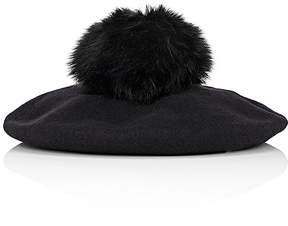Barneys New York WOMEN'S POM-POM-EMBELLISHED WOOL BERET