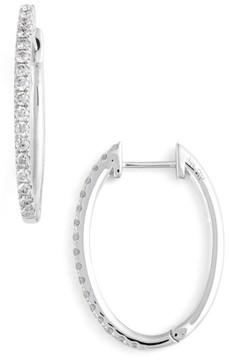 Bony Levy Women's Oval Hoop Diamond Earrings (Nordstrom Exclusive)