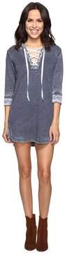 Allen Allen 3/4 Sleeve Lace Front Short Dress