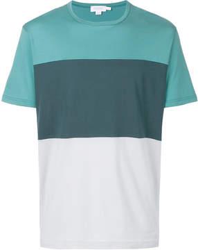Sunspel colour block crew neck T-shirt