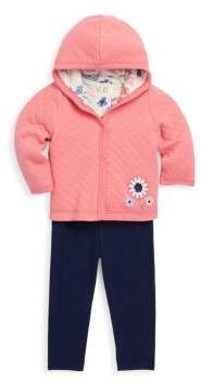 Offspring Baby Girl's Three-Piece Cotton Top, Jacket & Pants Set