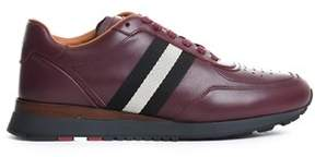 Bally Men's Burgundy Leather Sneakers.