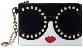 Alice + Olivia Evy Stace Face Pearl Zip Keycharm