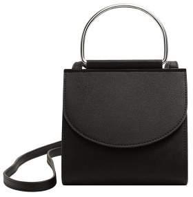 MANGO Metallic handle mini bag