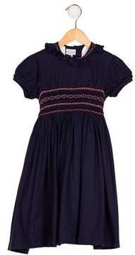 Papo d'Anjo Girls' Wool-Blend Embroidered Dress