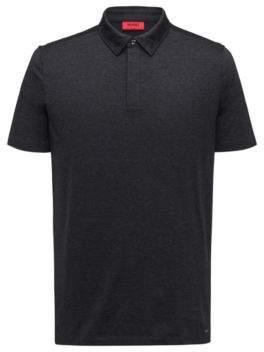 HUGO Boss Cotton Polo Shirt, Slim Fit Digatos L Charcoal