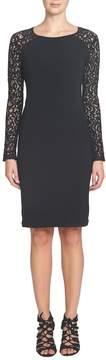 Cynthia Steffe Women's Michaela Lace Combo Jersey Dress