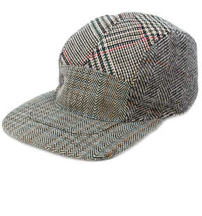 Stella McCartney multi pattern tweed cap