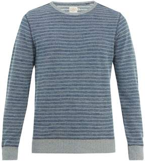 Faherty Crew-neck striped cotton sweater