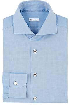 Kiton Men's Herringbone Cotton Dress Shirt