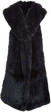 Yves Salomon Rabbit Fur Hooded Scarf