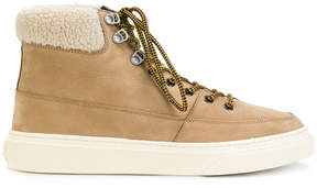 Hogan trimmed lace-up boots