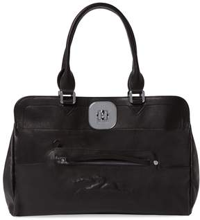Longchamp Women's Gatsby Medium Leather Tote - BLACK - STYLE
