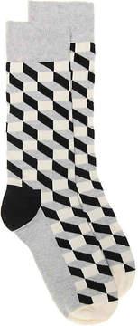 Happy Socks Men's Filled Optic Dress Socks