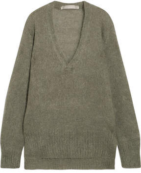 Dion Lee Oversized Mohair-blend Sweater - Army green